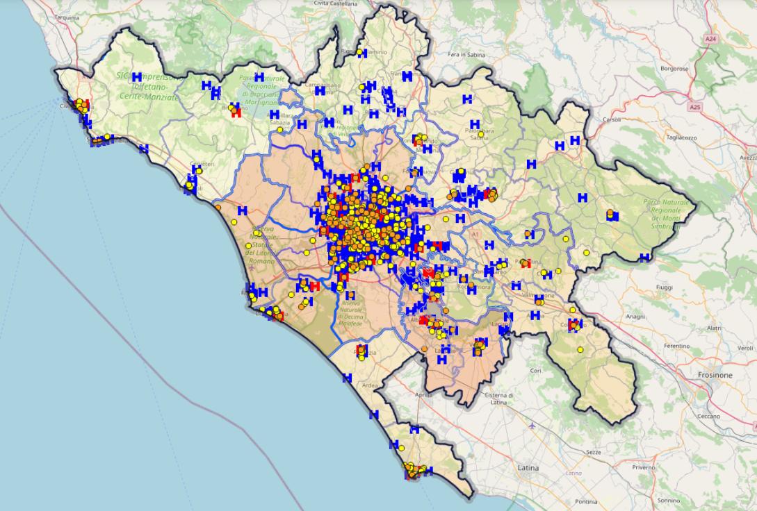Cartina Citta Roma.Cartografia Geoportale Cartografico Citta Metropolitana Di Roma Capitale